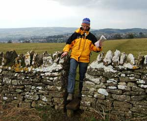 The author uses a classis stile in a wall in the Cotswolds. PhoThe author uses a classic stile designed to let walkers through, but not sheep. Photos by Liz Kirchner