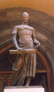Shota Rustaveli was a 12th-century poet who wrote 'The Knight in the Panther's Skin,' the Georgian national epic.