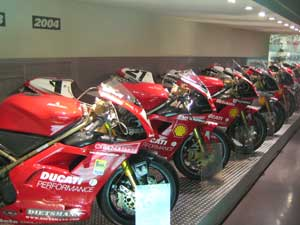 Racing models throughout history in the Museo Ducati
