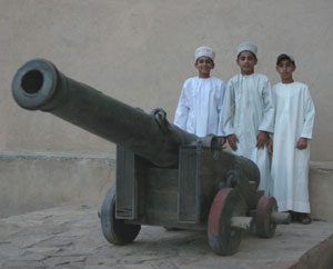 Youngsters at the Nizwa Fort - photos by Ian Lemmin-Woolfrey