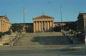 The Philadelphia Museum of Art and the famous steps where Rocky trained