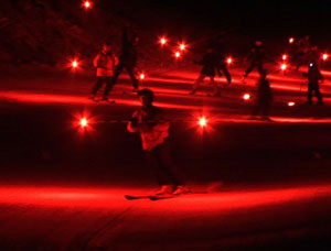 Torchlight Ski Parade at Red Lodge Mountain Resort's Winter Carnival - photo by Sony Stark