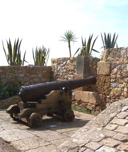 Never misses: an ancient cannon still guards the city walls of the Old Town