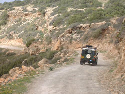 Driving in the Avakas gorge, Western Cyprus.