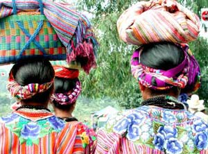Mayan women on the way to market - photos courtesy of Atitlan.com
