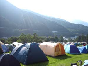 Camping at the Fuji Rock Festival