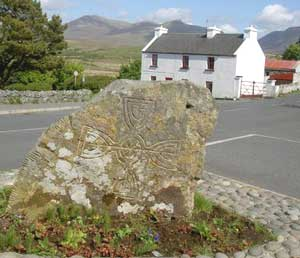 The Ogham Stone in Tully Cross bears the earliest known writing in Ireland.