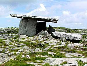 A meglithic tomb on the Burren
