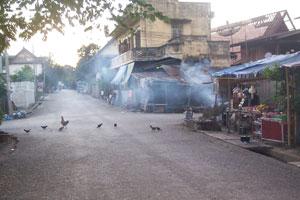 A back street in Luang Prabang