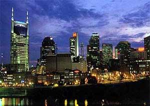 The famous Nashville skyline