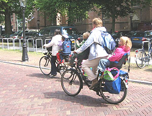 Bicyclists in Utrecht