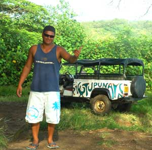 Our guide Jay and his 4x4
