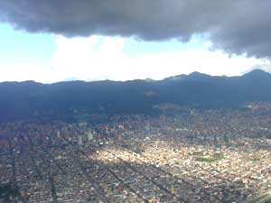View of Medellin from the air. photos by William Karz.
