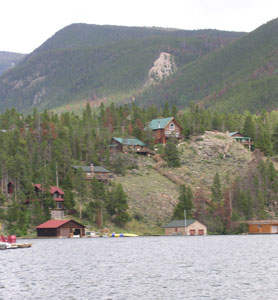 Houses along Grand Lake