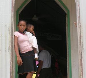 The doorway of La Churcha in Samaná