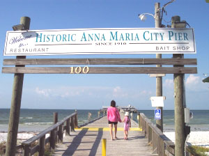 The Anna Maria City Pier, a good spot for fishing - photos by Tim Leffel