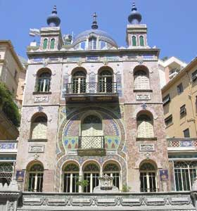 One of the many beautiful buildings in Monte Carlo
