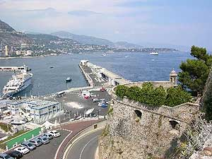 View of the Fort Antoine Theater and Monaco's Harbor