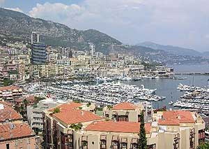 Overlooking Monaco's harbor and the Port of Hercules