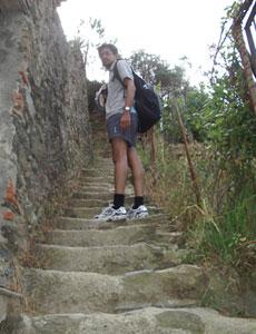Coast route of Cinque Terre.