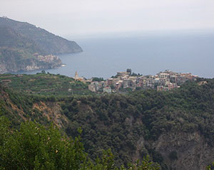 A view of the villages that make up Cinque Terre, one of Italy's most spectacular hiking spots.