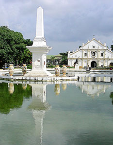 The cathedral in Vigan