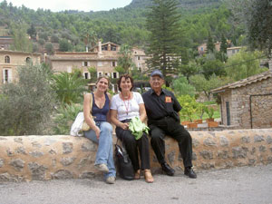 The author and friends in Deia