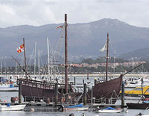 The harbor at Baiona