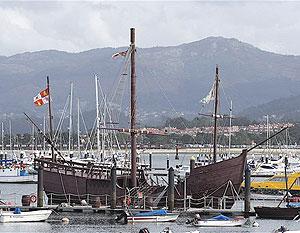 The harbor at Baiona