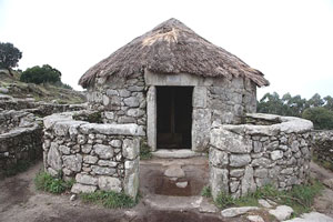 A Celtic stone house in Santa Tegra