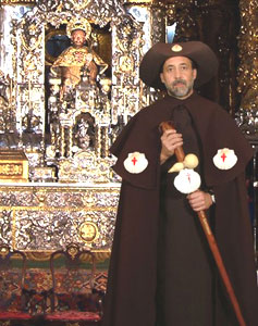 Paul Shoul in the cathedral at Santiago-de-Compostela