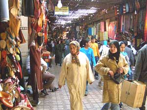 A souk (market) in Marrakech
