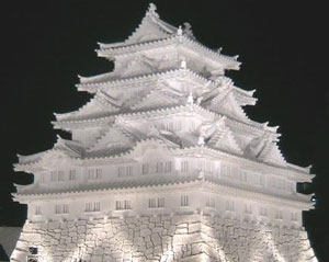 A snow temple in Sapporo, Japan.