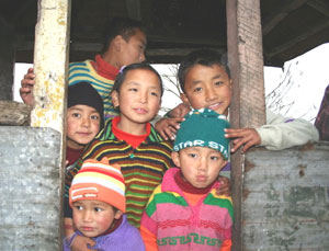 Kids near Gangtok