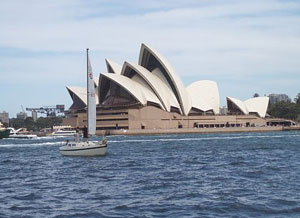 The Sydney Opera House viewed from the harbor - photos by Kent E. St. John