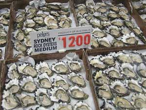 Oysters are a local specialty