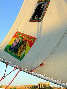 The felucca 'Bob Marley'