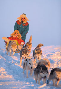 Dogsledding is also popular.