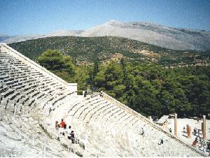 The ancient theater of Epdavros - photos by Annika Dash
