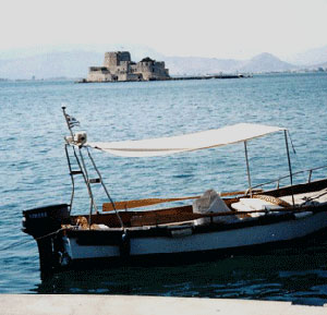 The fortress in the sea at Nafplio