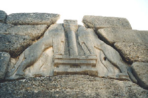 The lion gate in Mycenae