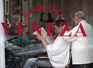 The Veneza Barber Shop in Porto