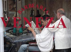 The Veneza Barber Shop in Porto