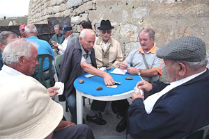 A  card game in downtown Porto