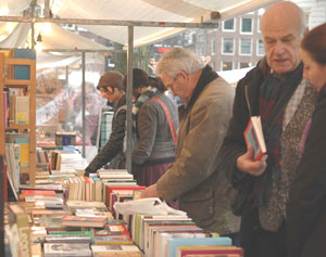 The Amsterdam Book Market - photos by Elizabeth Bagley