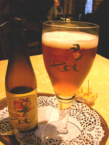 Belgium's  unique drawing card - beer!  Photos by David Brown