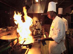 Cooking at La Cocina at the Marriott