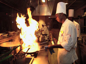 Cooking at La Cocina at the Marriott