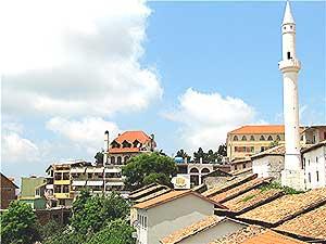 The skyline of Kruja