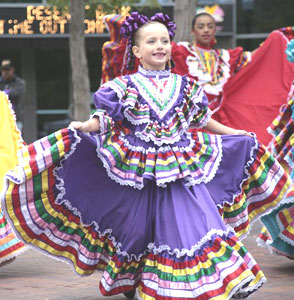 A young Mexican dancer at a festival in Downtown Boise - photos by Paul Shoul